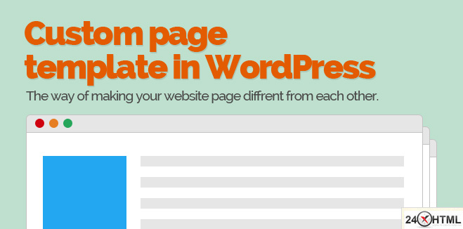 How to create a custom page in WordPress?