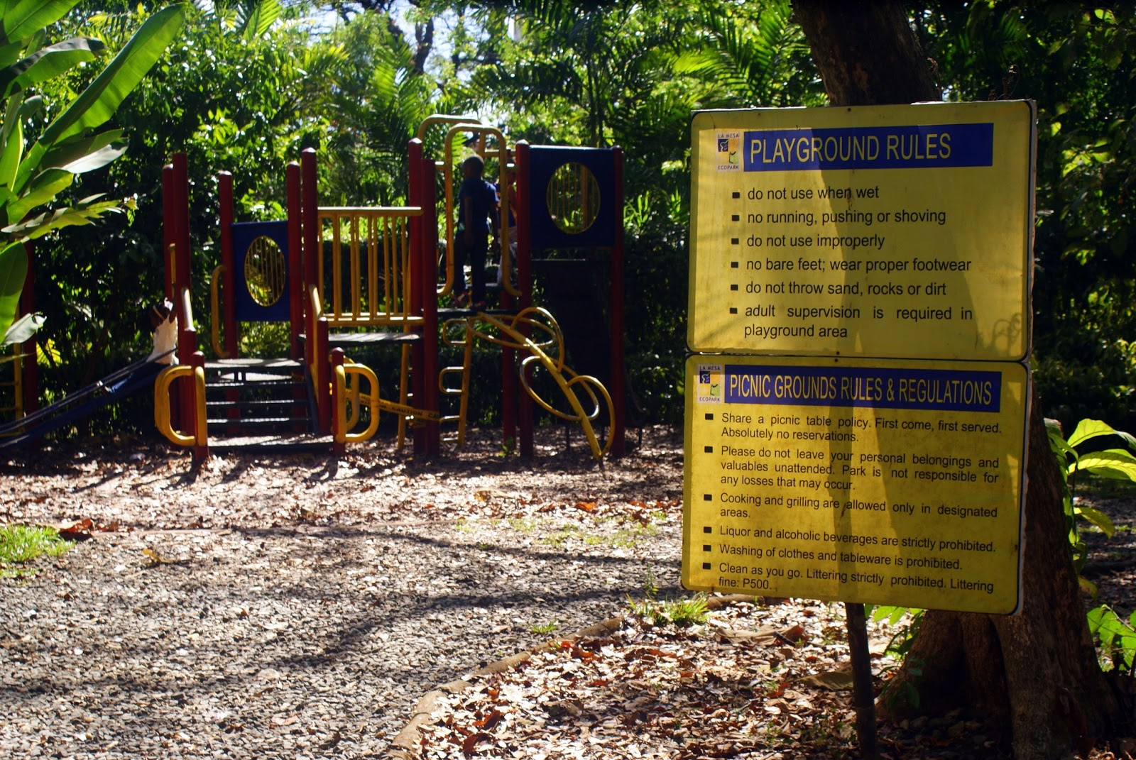 Play ground rules - La mesa eco park swimming pool photos ...