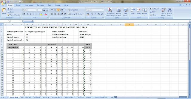 Perhitungan Skripsi Kuantitatif Dengan Menggunakan Rumus Excel Sang Pencari Ilmu