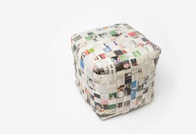 Lampara de períodico y manualidades con material reciclado