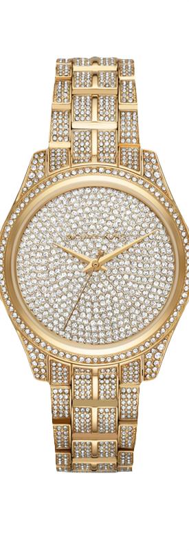 MICHAEL KORS Lauryn Pavé Gold-Tone Watch
