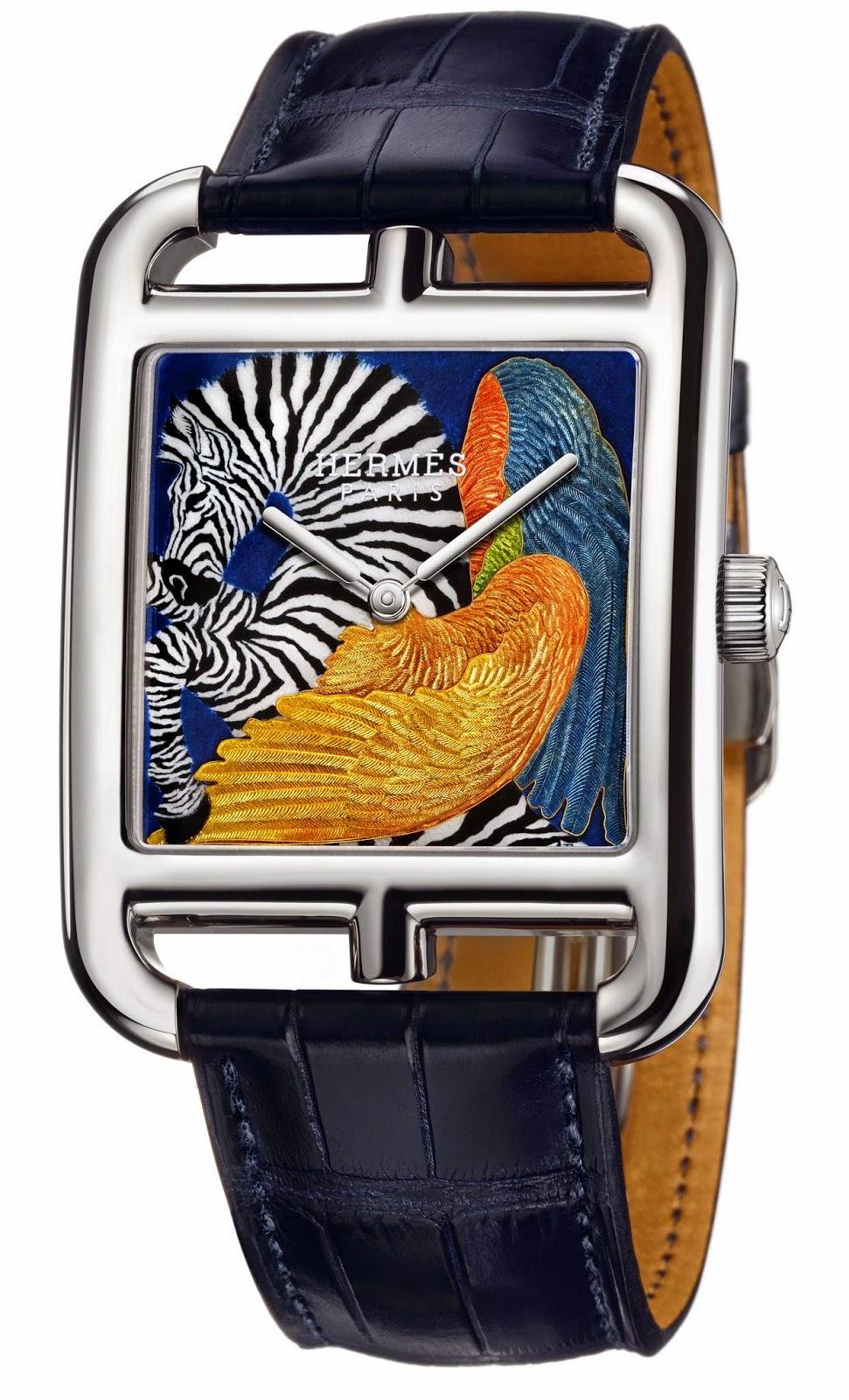 Hermès Cape Cod Zebra Pegasus watch