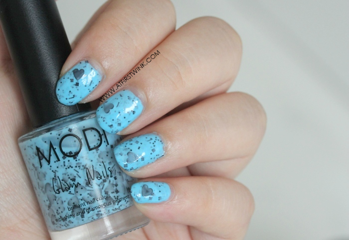 Modi Glam Nails S035 - Love Me Not (nail swatch)