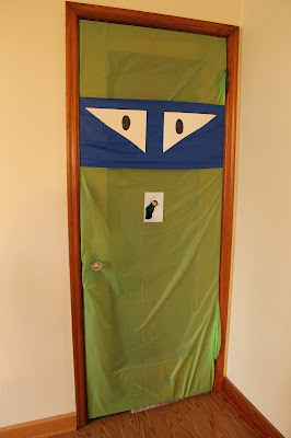 Ninja Turtle Birthday Party Door Decoration