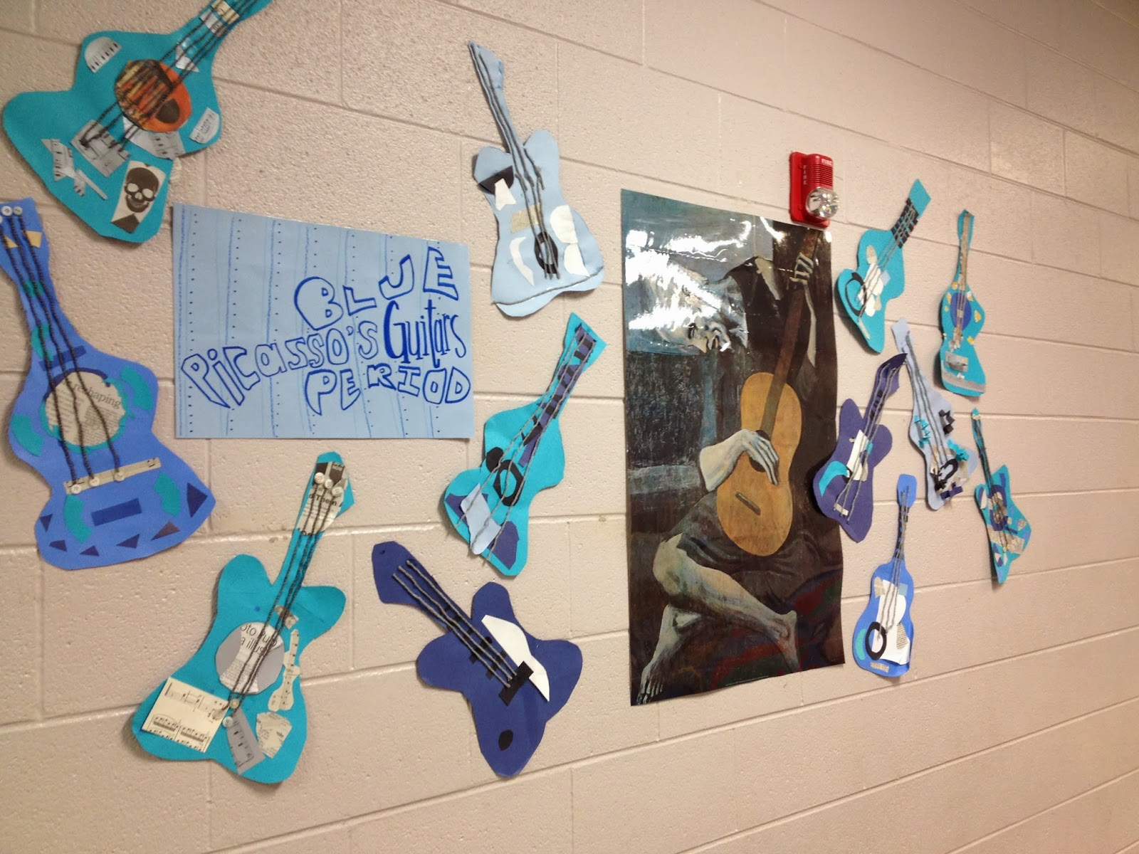 the teacher with a ponytail picasso cubist blue period guitars 2nd grade. Black Bedroom Furniture Sets. Home Design Ideas