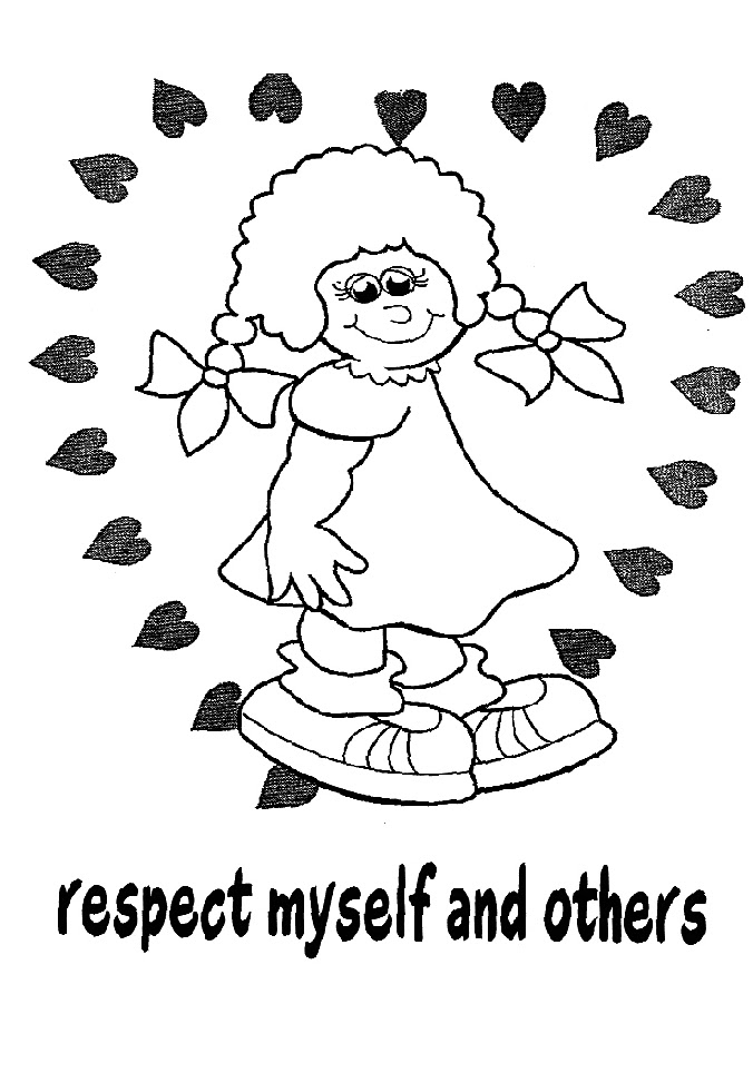 coloring pages showing respect | Girl Scout Daisy Mom: Petal Independent Study Packs