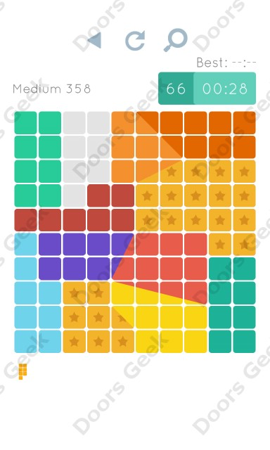 Cheats, Walkthrough for Blocks and Shapes Medium Level 358