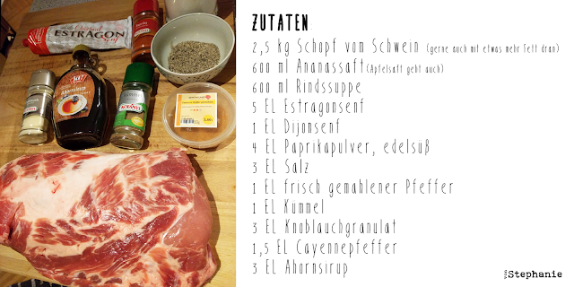 Pulled Pork Rezept | Zutaten | vonStephanie
