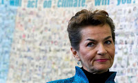 Christiana Figueres: 'a universal climate agreement of nations also needs universal support from the private sector beyond Europe and North America.' (Photograph Credit: Alexander F. Yuan/AP) Click to Enlarge.