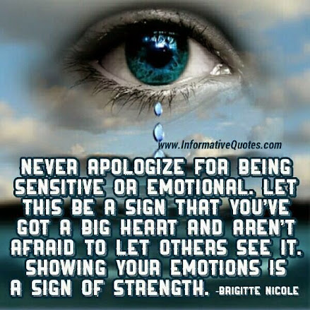 It is okay to be sensitive...