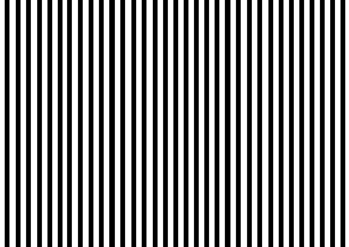 The definition of a stripe is a long thin line that is somehow different from what is on either side of it.