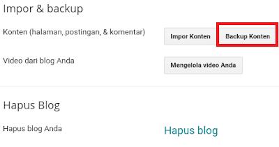 Cara Mudah Backup Semua Postingan Blogger