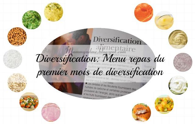 Diversification: Menu repas du premier mois de diversification (bébé de six mois)
