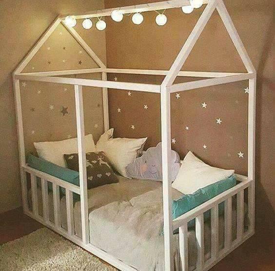 Camas para bebés en forma de casa   Construccion y Manualidades ...
