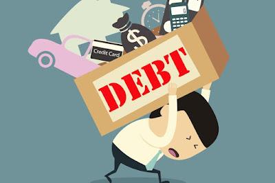 burdened-with-loan-illustration