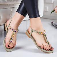 Sandale cu talpa joasa elegante cu pietre