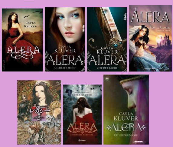 portadas de la novela juvenil de fantasía romántica Alera, de Cayla Kluver