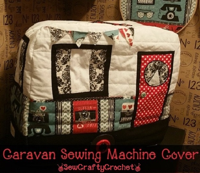 Caravan Sewing Machine Cover - Sew Crafty Crochet