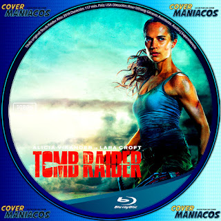 GALLETA BLURAY - TOMB RAIDER 2018 [COVER CARATULA ]
