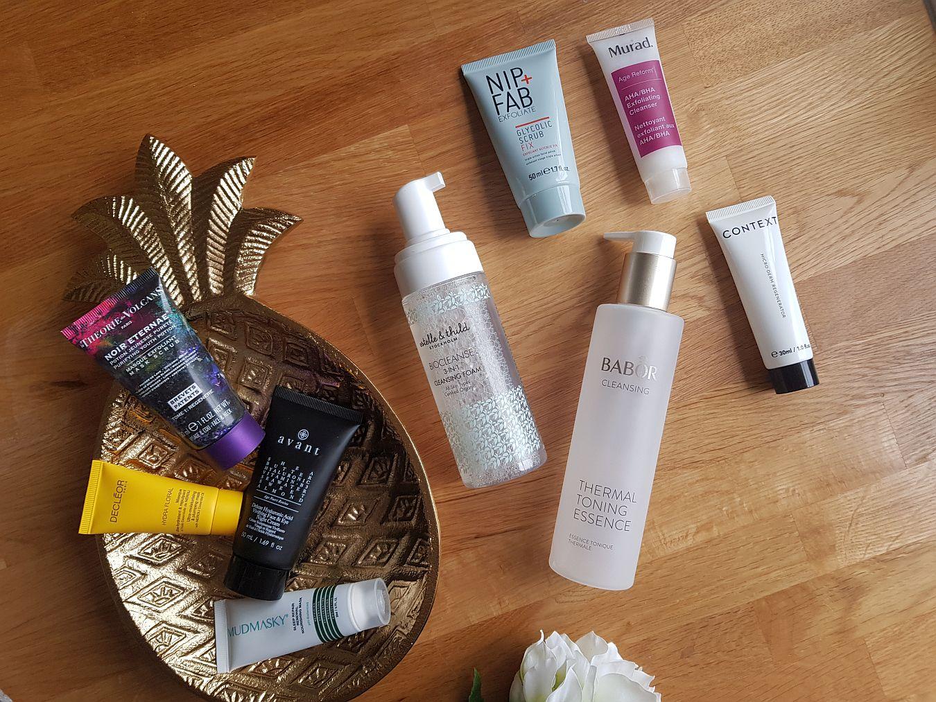 Продукти, които искам да изразходвам бяла козметика, нощни маски, тоник, ексфолиране