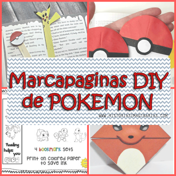 4 Marcapaginas DIY de Pokemon