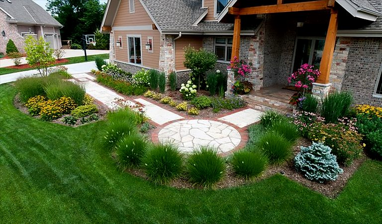 green landscaping decorating ideas