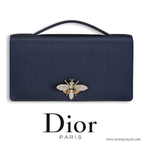 Meghan Markle carried Dior Navy Satin Clutch Bag