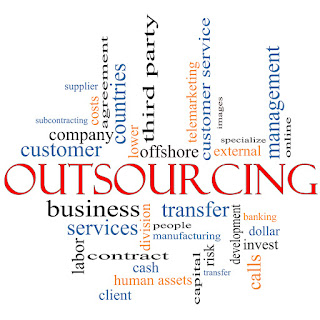 The outsourcing of company tasks