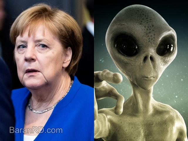 Angela Merkel, Canciller de Alemania / extraterrestre