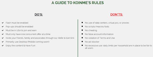 KoinMe Rules