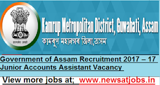 Govt-of-Assam-Recruitment-2017-17-Junior-Accounts-Assistant-Vacancy