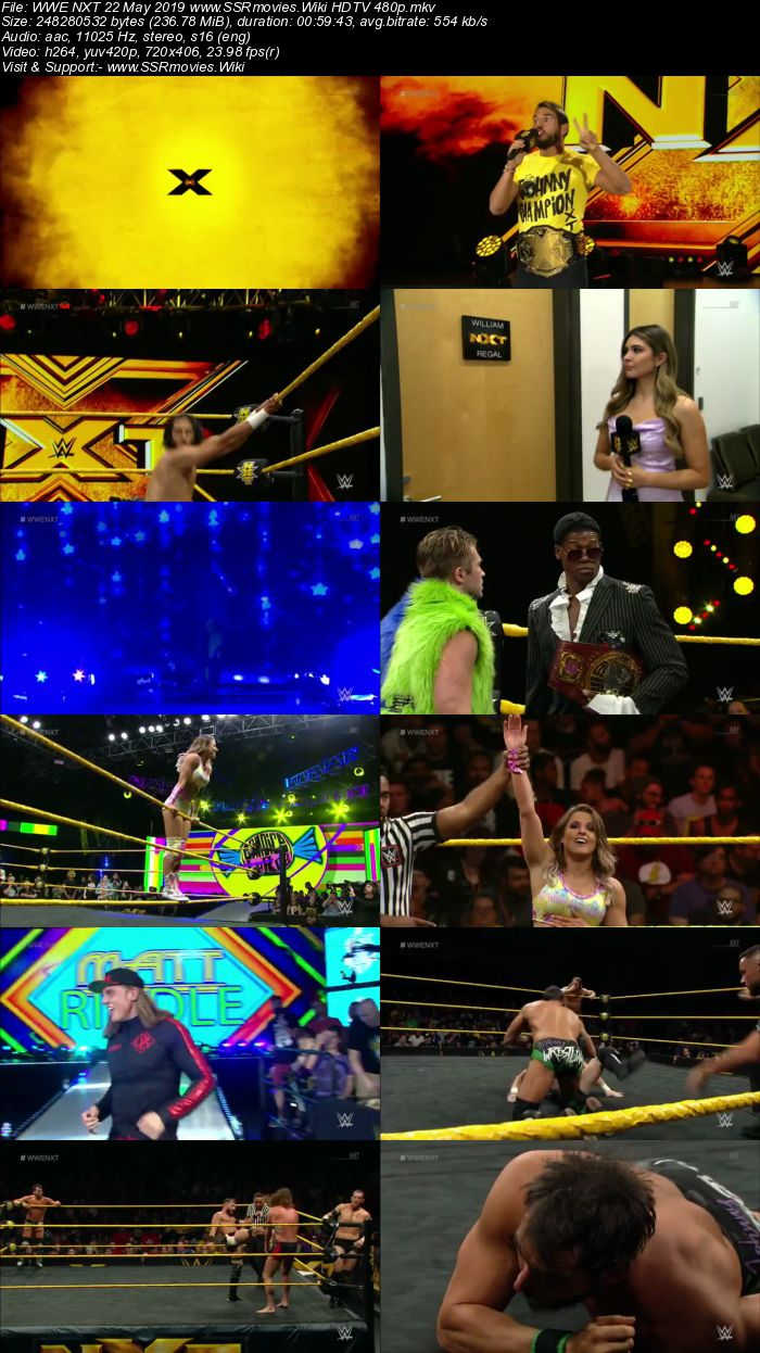 WWE NXT 22 May 2019 HDTV 480p Full Show Download