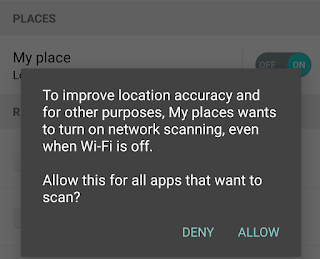 Turning on location access on Android