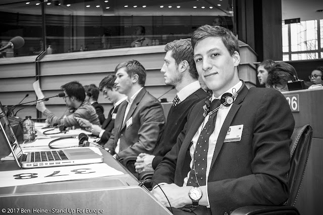 Jules Bejot - Stand Up For Europe - Students for Europe - European Parliament - Photo by Ben Heine
