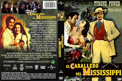 Carátula dvd: El caballero del Mississippi / The Mississippi Gambler