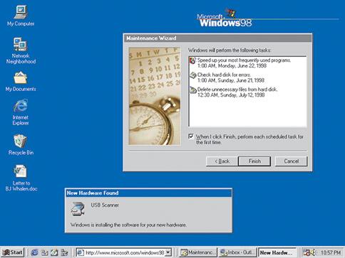 history of Window 1998–2000: Windows 98, Windows 2000
