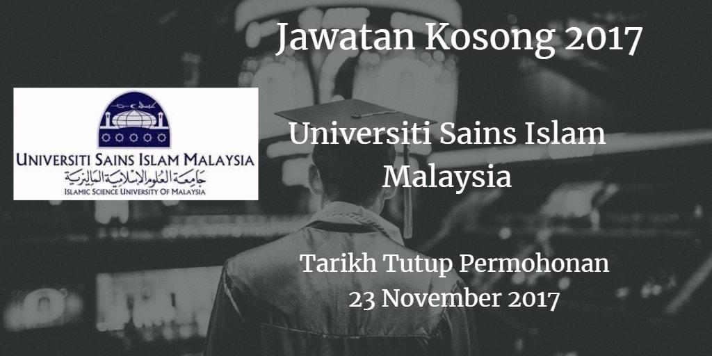 Jawatan Kosong USIM 23 November 2017