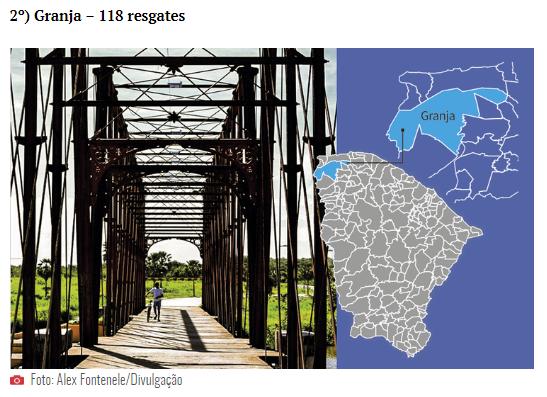 Granja entrou no mapa do trabalho escravo no Ceará