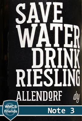 Save Water Drink Riesling by Allendorf Rheingau 2016