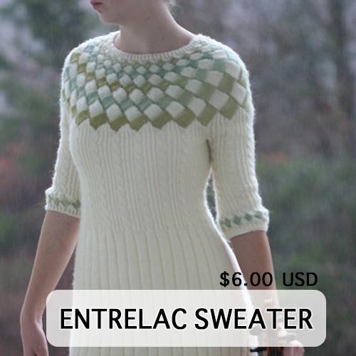 Entrelac Sweater Dress