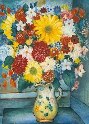Vaso com Flores - Guignard e suas pinturas ~ Pintor de Minas Gerais