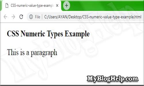 CSS numeric value type