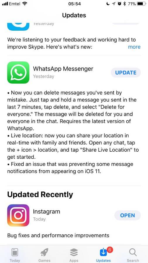 iOS 11 Whatsapp notification / message load delay fix