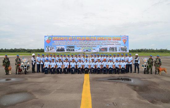 HUT : Polisi Militer Angkatan Udara rayakan hUT nya yang ke 70 di Lanud Supadio. Foto Kapentak TNI AU SUpadio