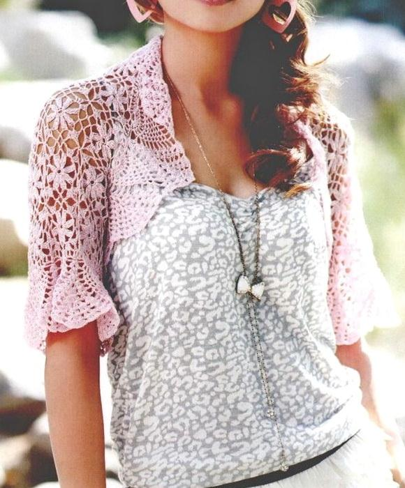 Crochet lace shrug with pattern - For Summer