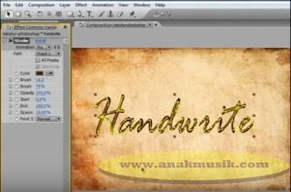 Cara Membuat Video Efek Tulisan Tangan