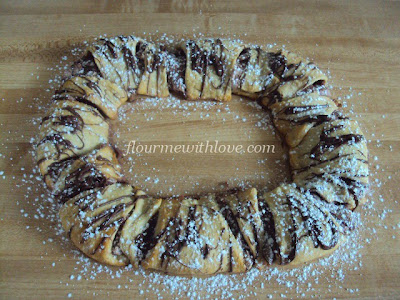 Delicious Nutella and Cream Cheese mixed together and baked in a flaky Croissant Dough