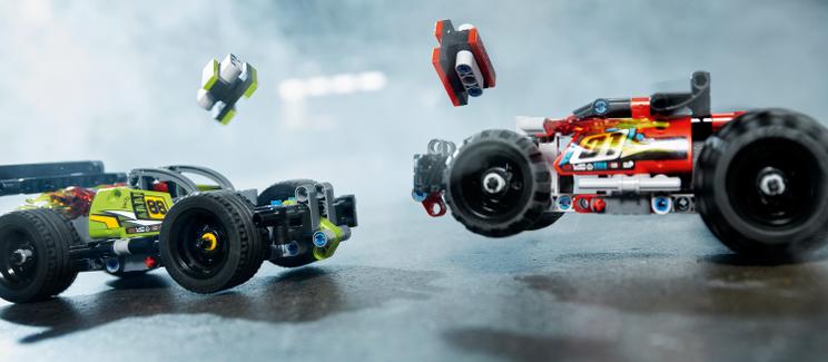 用衝撞來滿足你的速度欲!細看 LEGO 科技系列迴力車組 42072 重擊!+ 42073 猛攻!