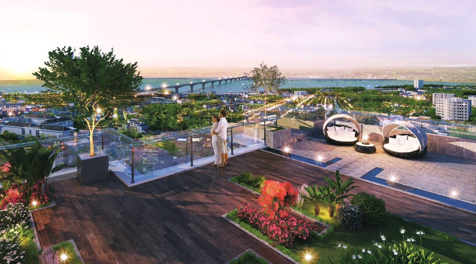 Vườn trên cao dự án Amber Riverside Minh Khai