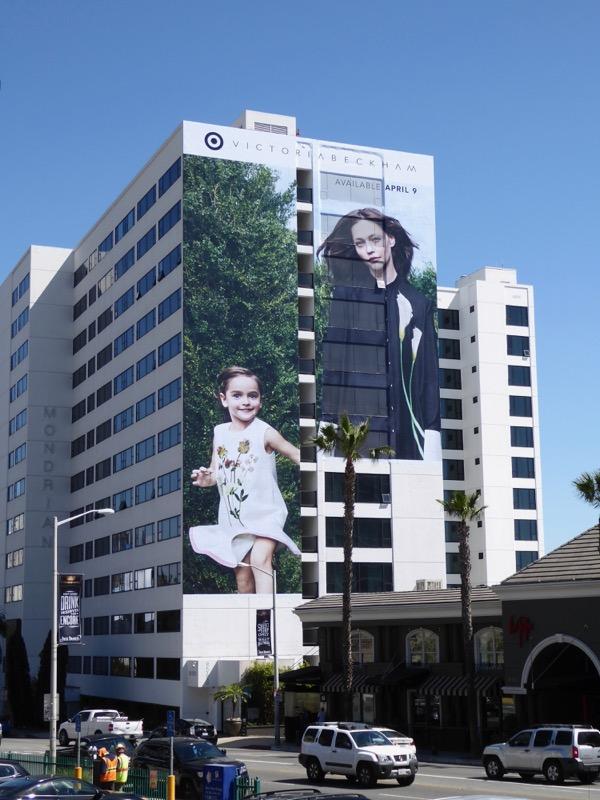 Giant Target Victoria Beckham Spring 2017 billboard